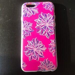 Custom iPhone 6 pink flowered case